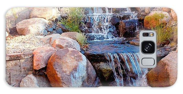 Waterfall Among Rocks Galaxy Case by Barb Baker