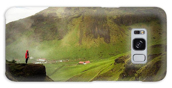 Landscapes Galaxy Case - Waterfall And Mountain In Iceland by Matthias Hauser