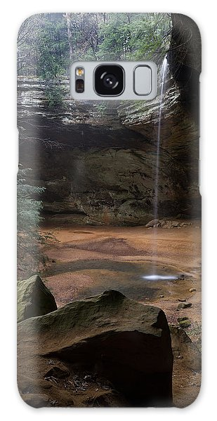 Waterfall At Ash Cave Galaxy Case