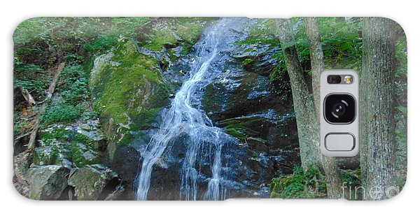 Waterfall At Crabtree Falls Galaxy Case by Charlotte Gray