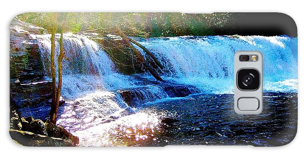 Waterfall At Dupont Forest Park Nc 2 Galaxy Case by Annie Zeno