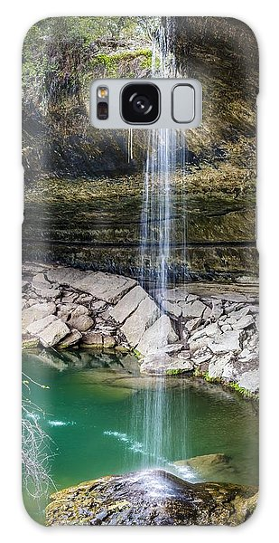 Waterfall At Hamilton Pool Galaxy Case