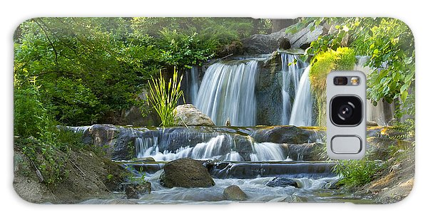 Waterfall At Lake Katherine 2 Galaxy Case by Larry Bohlin