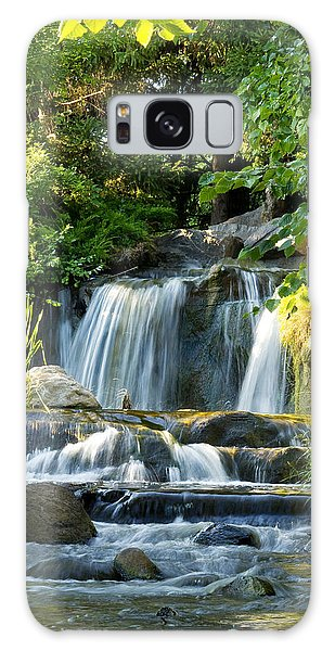 Waterfall At Lake Katherine Galaxy Case by Larry Bohlin