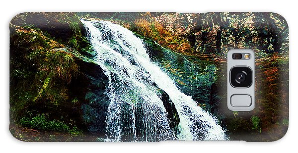 Waterfall By Stiles Cove Path Galaxy Case