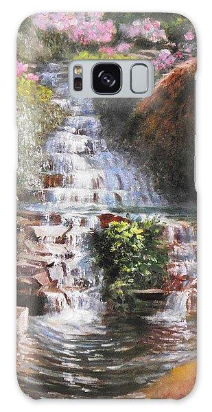 Waterfall Garden Galaxy Case