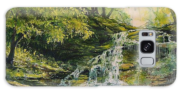 Waterfall In The Woods Galaxy Case by Joy Nichols