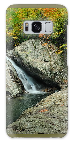 Waterfall In West Fork Of Pigeon River Galaxy Case