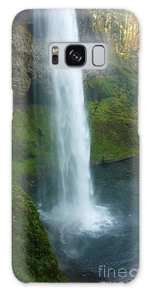 Waterfall View Galaxy Case by Susan Garren