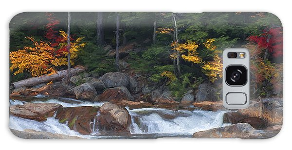 Waterfall - White Mountains - New Hampshire Galaxy Case by Jean-Pierre Ducondi