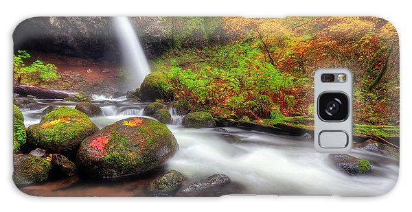 Waterfall With Autumn Colors Galaxy Case
