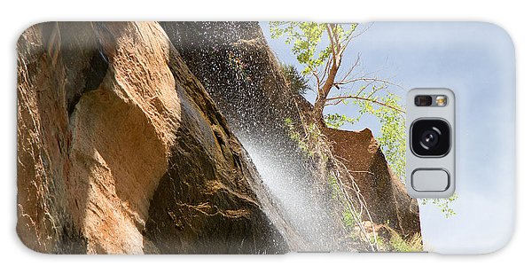 Waterfall Zion National Park Galaxy Case