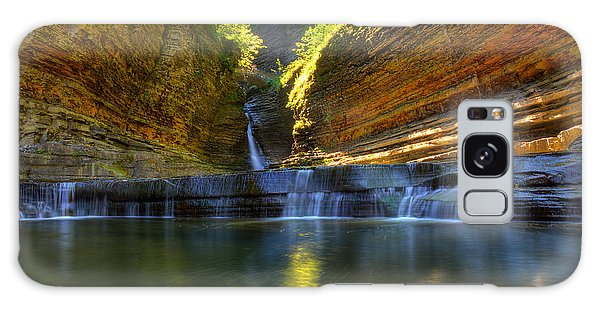 Waterfalls At Watkins Glen State Park Galaxy Case