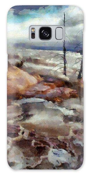Waterfalls At Yellowstone Galaxy Case by Kai Saarto