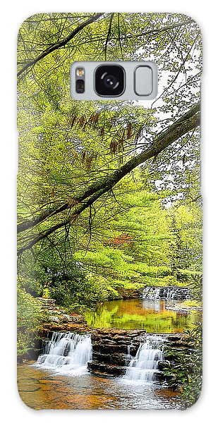 Waterfalls In Late Summer Pocono Mountains Pennsylvania Galaxy Case by A Gurmankin