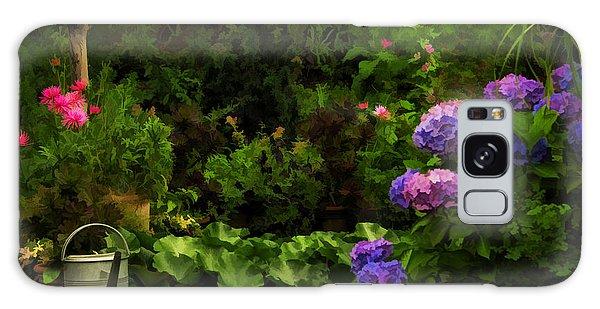Watering Can In A Beautiful Garden Galaxy Case