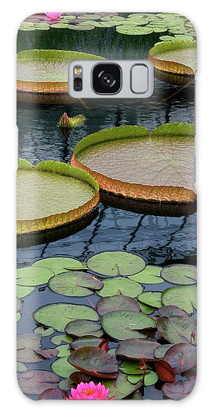 Waterlilies And Platters 2 Galaxy Case