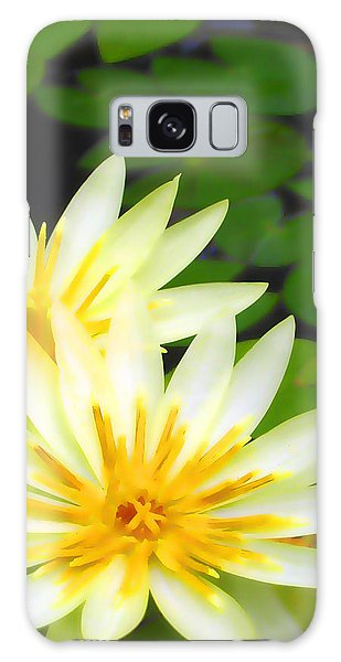 Waterlilies In Pond Galaxy Case