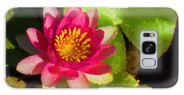 Waterlily Impression In Fuchsia And Pink Galaxy Case