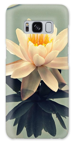 Waterlily On Glass Galaxy Case
