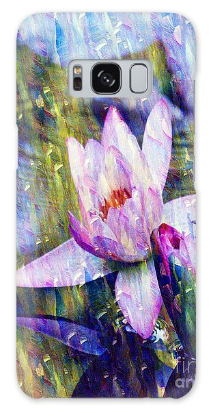 Purple Waterlily Paradise Galaxy Case