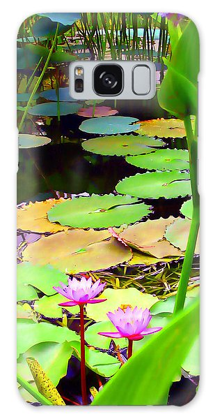 Waterlily Pond Galaxy Case