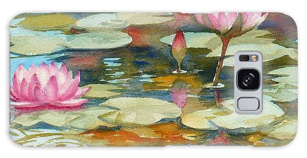 Waterlily Pond Galaxy Case