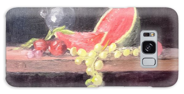 Watermelon And Plums - Still Life Galaxy Case
