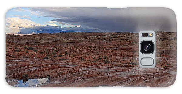 Waterpockets And Storm At The Valley Of Fire Galaxy Case