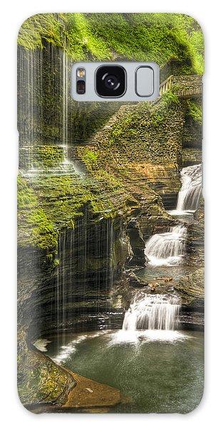 Watkins Glen Rainbow Falls Galaxy Case