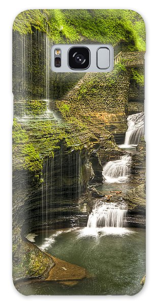 Watkins Glen Falls Galaxy Case by Anthony Sacco