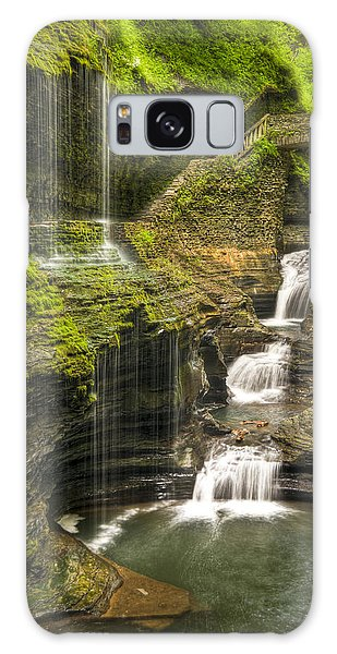 Watkins Glen Rainbow Falls Galaxy Case
