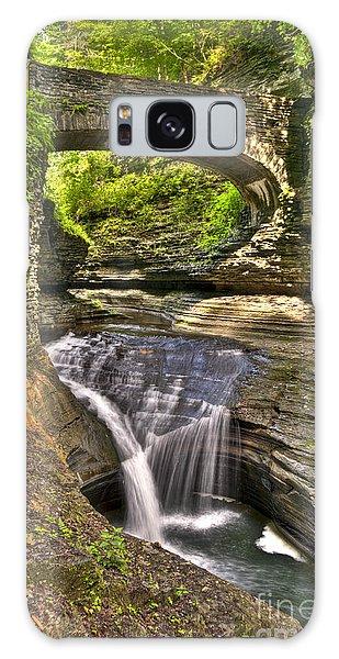 Watkins Glen Waterfalls Galaxy Case by Anthony Sacco