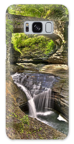 Watkins Glen Waterfalls Galaxy Case