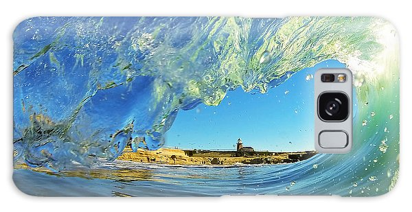 Wave And Lighthouse 1 Galaxy Case