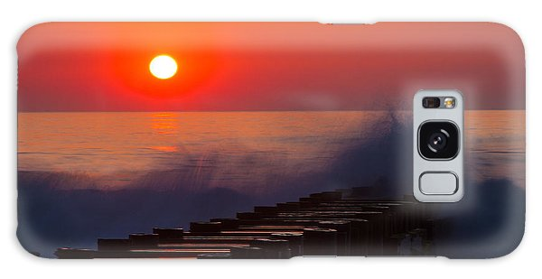 Breaking Wave At Sunrise Galaxy Case