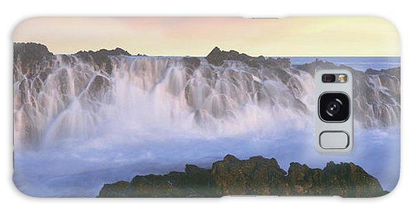 Breaking Dawn Galaxy Case - Wave Breaking On Rocks, Playa Cerritos by Panoramic Images