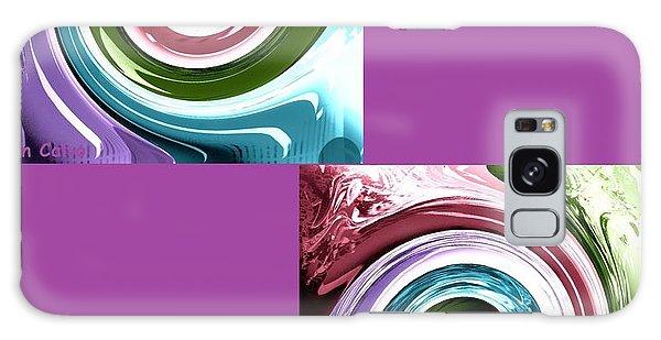 Wave Of Purple Galaxy Case by Ann Calvo