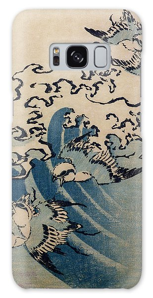 Waves And Birds Galaxy Case