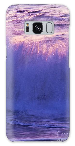 Waves At Sunset Galaxy Case