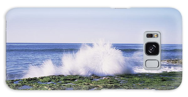 Breaking Dawn Galaxy Case - Waves Breaking The Coast, Natural by Panoramic Images