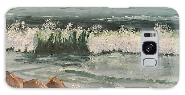 Waves Crashing Galaxy Case by Pamela  Meredith