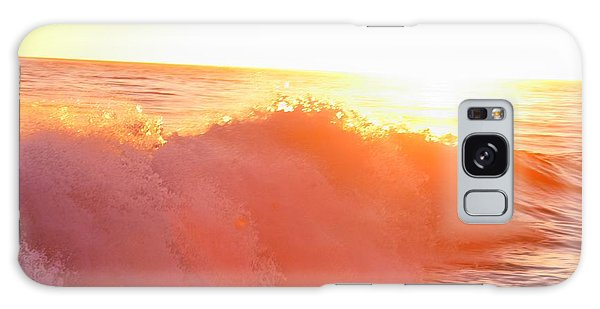Waves In Sunset Galaxy Case