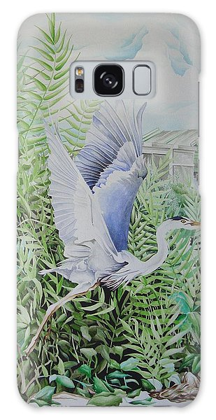 Wrightsville Blue Heron Galaxy Case