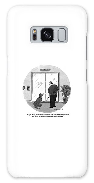 Leash Galaxy Case - We Get In, We Go Down, We Walk To The Park by Danny Shanahan