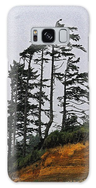 Weathered Fir Tree Above The Ocean Galaxy Case by Tom Janca
