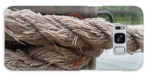 Weathered Ropes On The Dock Galaxy Case by Deborah Fay