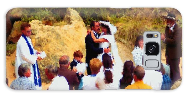 Wedding At Loch Ard Gorge Galaxy Case by Dennis Lundell