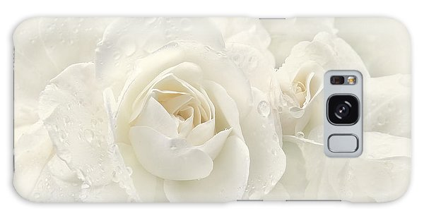 Wedding Day White Roses Galaxy Case