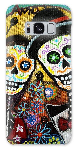 Skull Galaxy Case - Wedding Dia De Los Muertos by Pristine Cartera Turkus